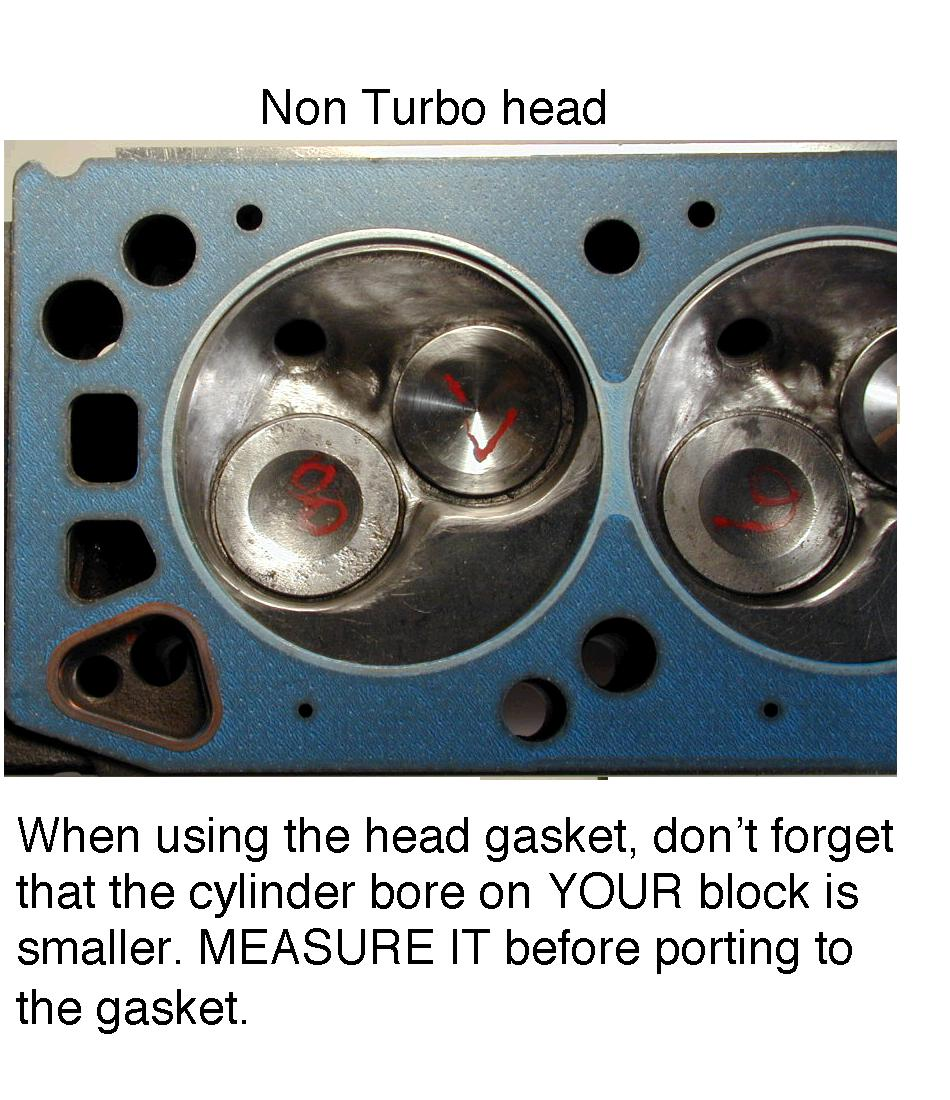Turbo head with polished chamber